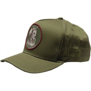 Lauren Rose Pet Indian First Nations Olive Snapback cap