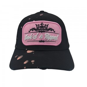 Lauren Rose Ink'd & Ripped Black /Pink
