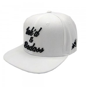Lauren Rose Ink'd & Badass White Snapback