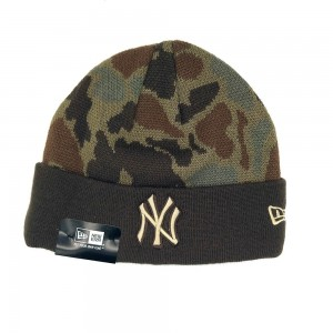New Era New York Yankees - Camo Brown Beanie