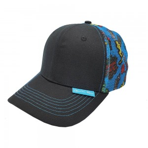 Lauren Rose - Summer Trucker Hat w/ Beach Time Print on Mesh
