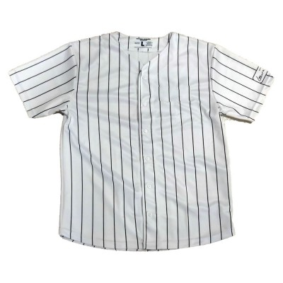 Baseball Jersey - Lauren Rose White/Black pinstripe