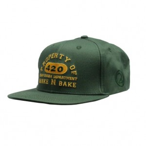 LAUREN ROSE CHAIBA WAKE & BAKE GREEN SNAPBACK 420