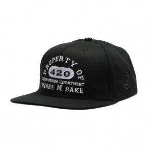 LAUREN ROSE CHAIBA WAKE & BAKE BLACK SNAPBACK 420