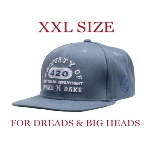 LAUREN ROSE CHAIBA WAKE & BAKE LIGHT BLUE XXL SNAPBACK 420