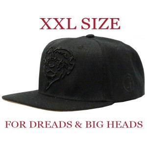 LAUREN ROSE BLACK LIONHEARTED XXL SNAPBACK 420