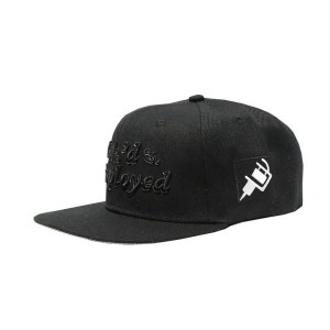 LAUREN ROSE INK'D & EMPLOYED BLACK SNAPBACK