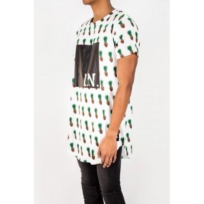 Sixth June t-shirt pineapple white
