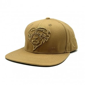 LAUREN ROSE KHAKI LIONHEARTED SNAPBACK 420