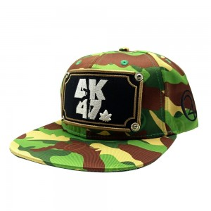 LAUREN ROSE AK47 CAMO GREEN SNAPBACK 420