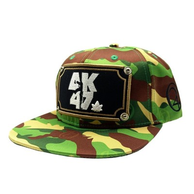 LAUREN ROSE AK47 CAMO GREEN SNAPBACK