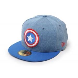 NEW ERA X MARVEL DENIM CAPTAIN AMERICA CAP