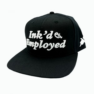 LAUREN ROSE INK'D & EMPLOYED ZWARTE SNAPBACK