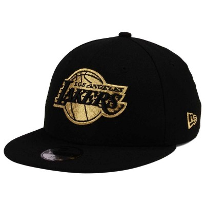 NEW ERA LA LAKERS CAP BLACK GOLD EDITION