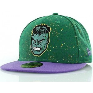 NEW ERA MARVEL HULK PAARS/GROEN FITTED CAP