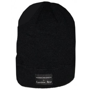 LAUREN ROSE BLACK ON BLACK BEANIE