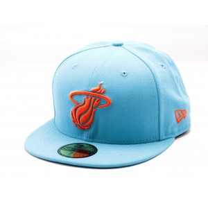 NEW ERA MIAMI HEAT TURQUOISE/ORANJE FITTED CAP
