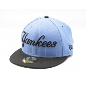 NEW ERA YANKEES LICHT BLAUW BASEBALL STYLED FITTED CAP