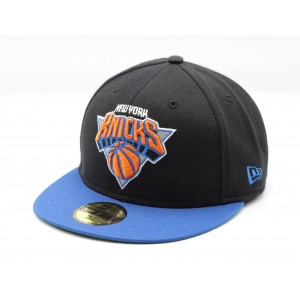 NEW ERA NEW YORK KNICKS ZWART/BLAUW FITTED CAP