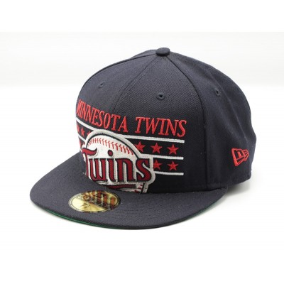 NEW ERA MINNESOTA TWINS BLAUW MLB FITTED CAP