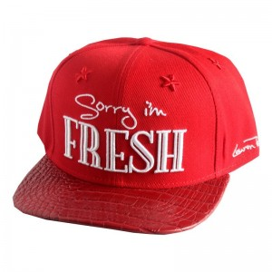 LAUREN ROSE FIRE RED SORRY I'M FRESH SNAPBACK