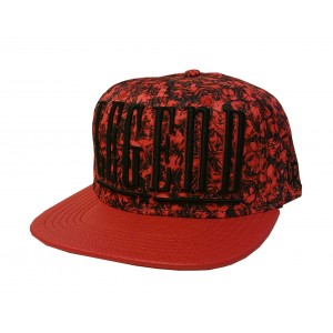 LAUREN ROSE ALLOVER ROSES LEGEND RED SNAPBACK
