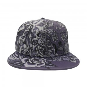 LAUREN ROSE INK'D &AWESOME ALLOVER GREY SNAPBACK