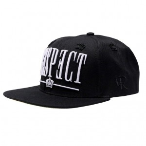 LAUREN ROSE BLACK RESPECT SNAPBACK 420