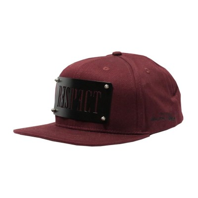 Lauren Rose Respect Plate - Burgundy
