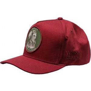 Lauren Rose Pet Indian First Nations Burgundy Snapback cap